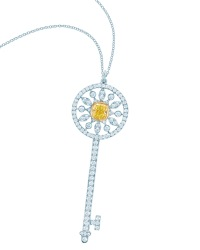 Tiffany Keys yellow and white diamond star key