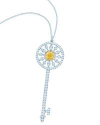 Tiffany Keys yellow and white diamond star key