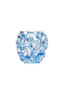 Vase Tourbillons patiné bleu SO @ Lalique SA